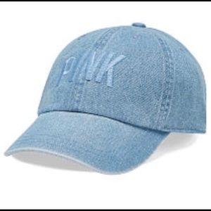 Victoria's Secret Pink Light Denim Hat